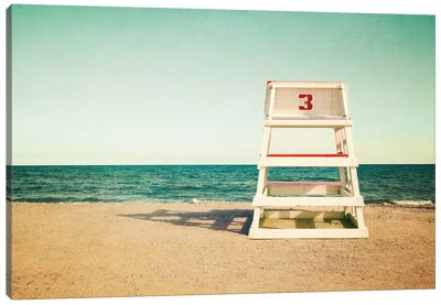 Lifeguard Station no3 by Katherine Gendreau Canvas Art Print