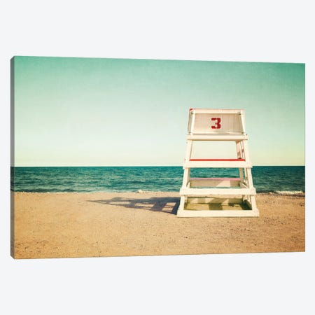 Lifeguard Station no3 Canvas Print #WAC2455} by Katherine Gendreau Canvas Art Print