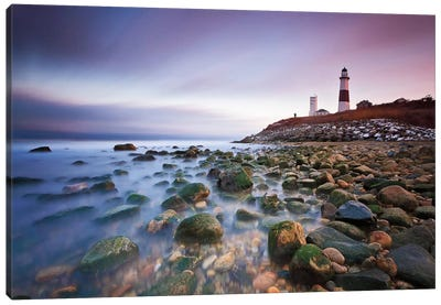 Montauk Point Sunset Canvas Art Print