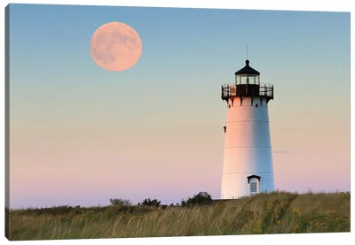 Moon Over Martha's Vineyard Canvas Art Print
