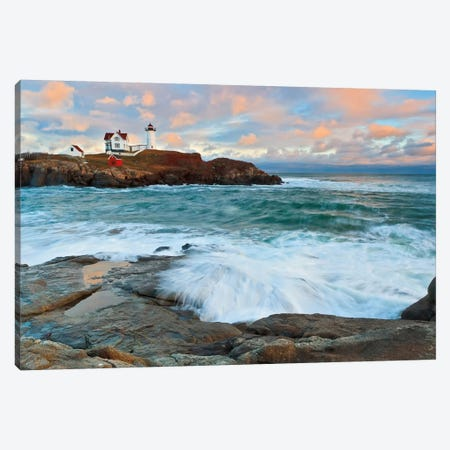 Nubble Sunset Canvas Print #WAC2458} by Katherine Gendreau Canvas Wall Art