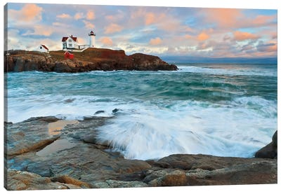 Nubble Sunset Canvas Art Print