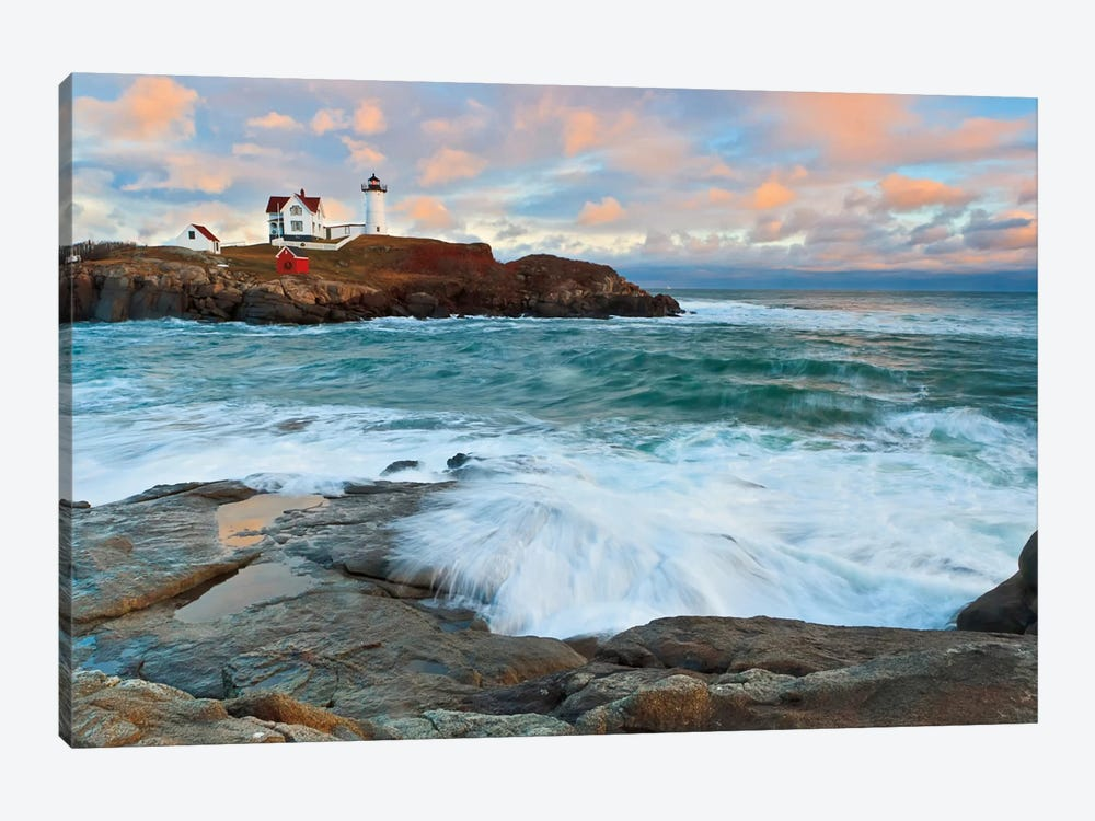Nubble Sunset by Katherine Gendreau 1-piece Canvas Artwork