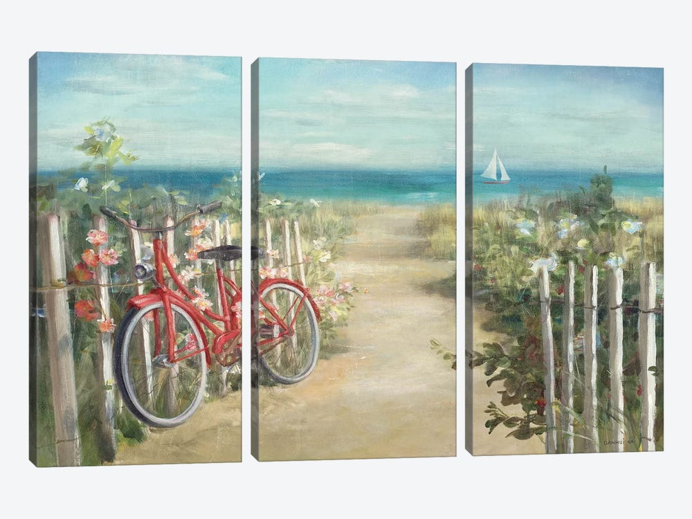 Summer Ride Crop by Danhui Nai 3-piece Canvas Artwork