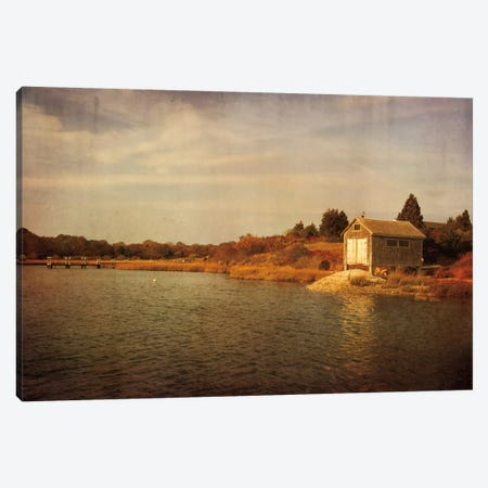 Quitsa Fishing Shack Canvas Print #WAC2462} by Katherine Gendreau Art Print