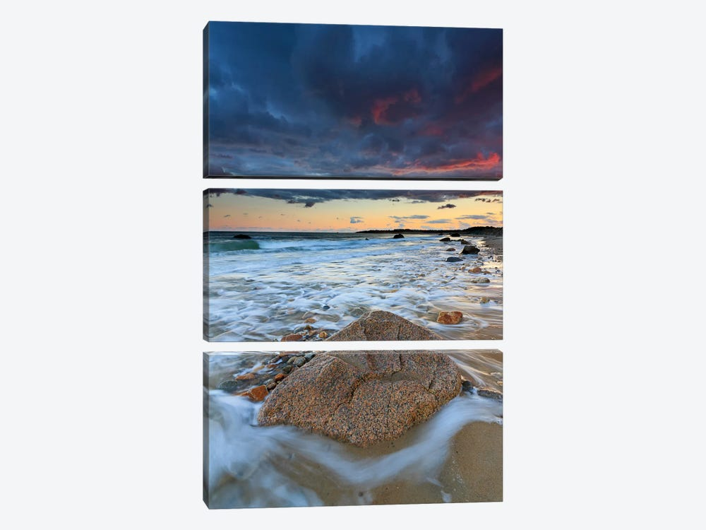 Squibnocket Sunset II by Katherine Gendreau 3-piece Canvas Wall Art