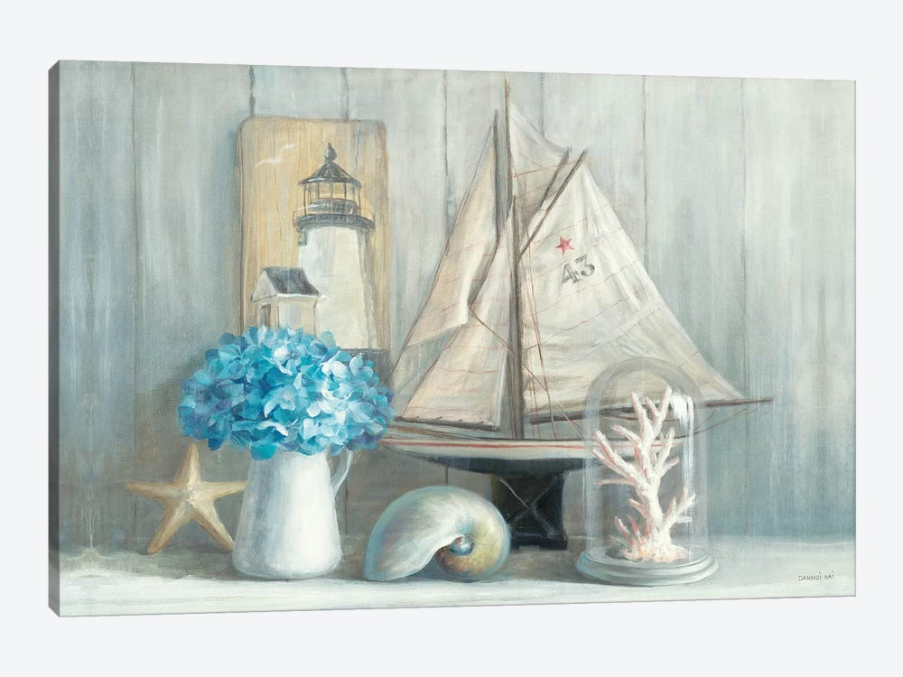 Summer House Crop 1-piece Canvas Print