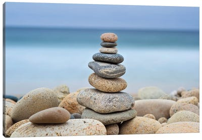 Stonewall Beach Cairn Canvas Art Print