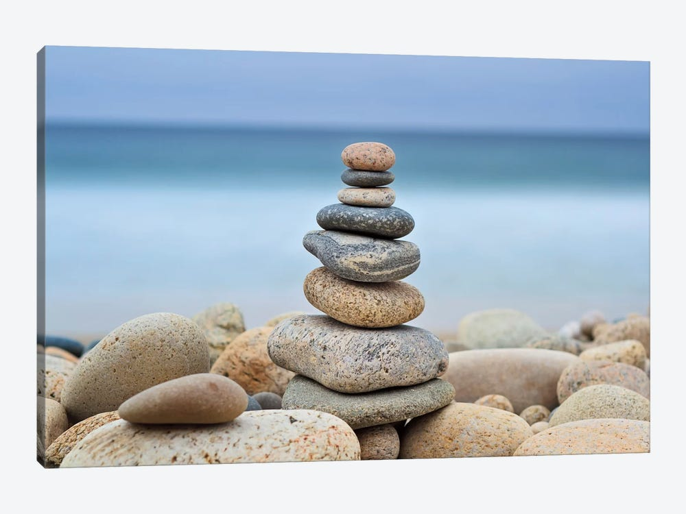 Stonewall Beach Cairn by Katherine Gendreau 1-piece Canvas Art