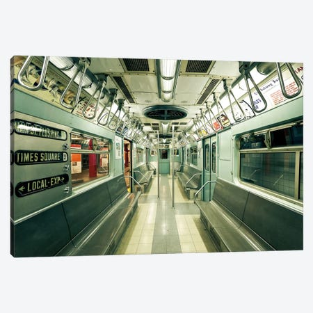 1963 NYC Subway Canvas Print #WAC2478} by Katherine Gendreau Canvas Artwork