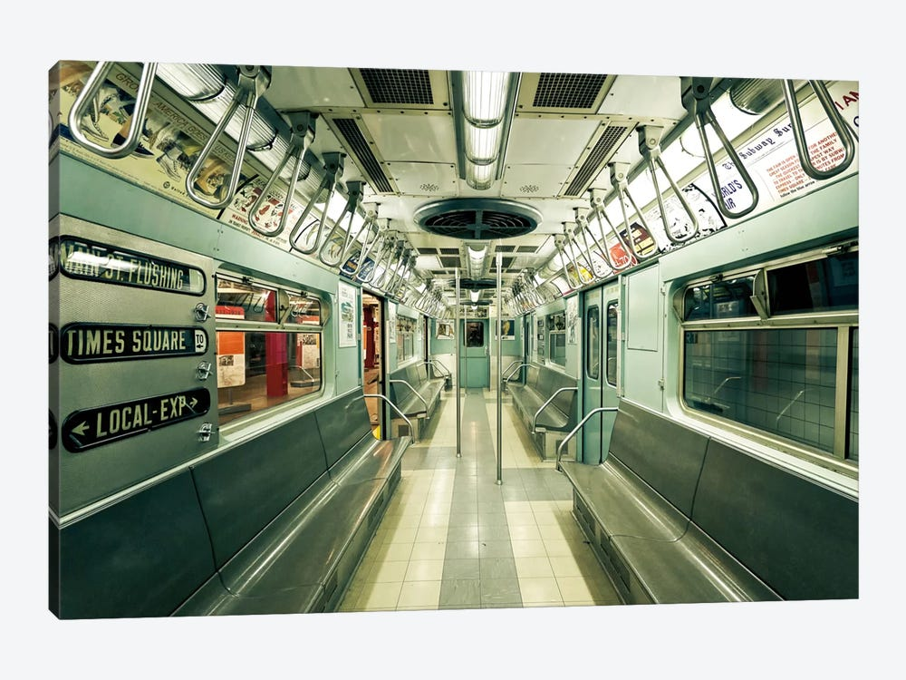1963 NYC Subway by Katherine Gendreau 1-piece Canvas Artwork