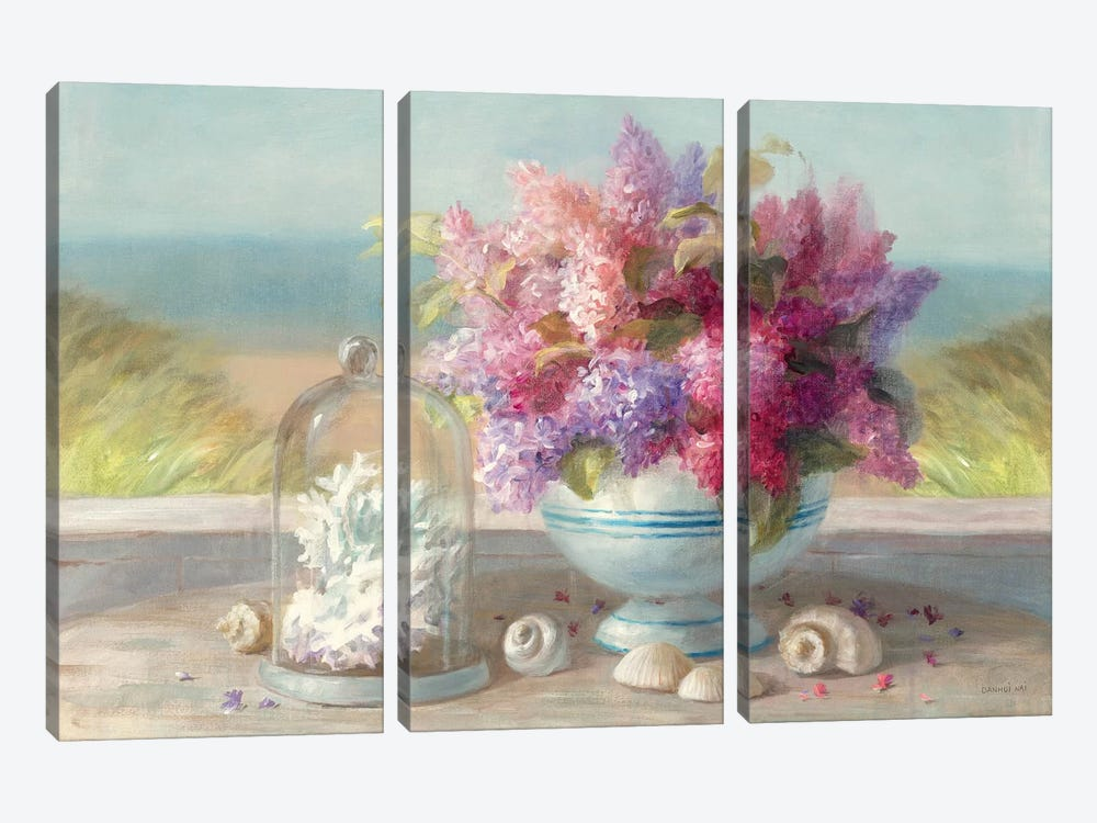 Seaside Spring Crop by Danhui Nai 3-piece Canvas Wall Art