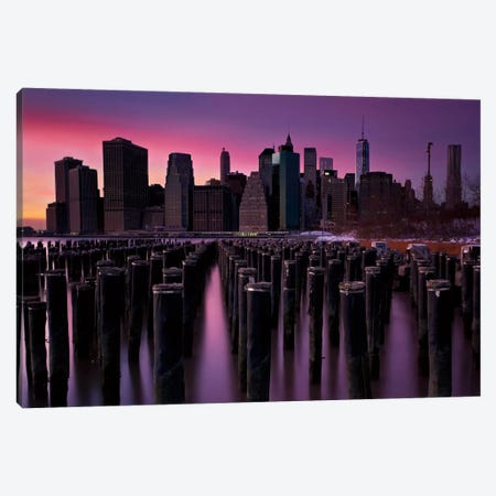 Manhattan Glow Canvas Print #WAC2481} by Katherine Gendreau Art Print