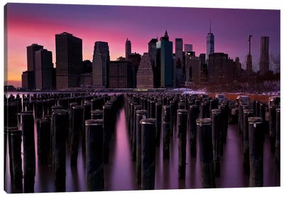 Manhattan Glow Canvas Art Print