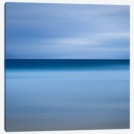Beach Blues Canvas Print #WAC2498} by Katherine Gendreau Canvas Artwork