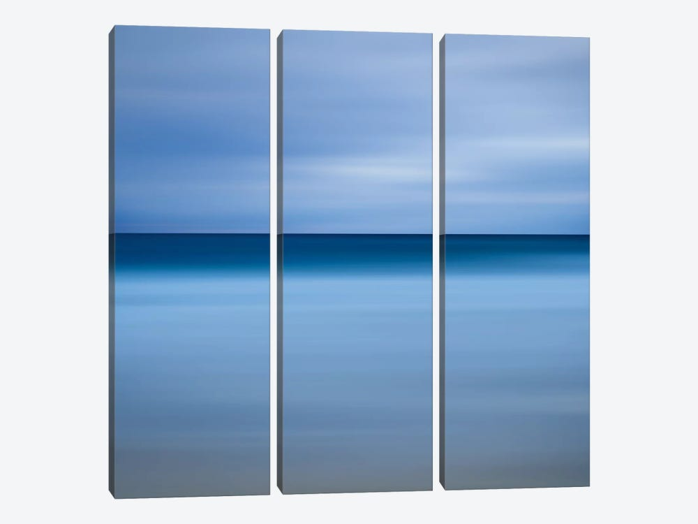 Beach Blues by Katherine Gendreau 3-piece Canvas Wall Art