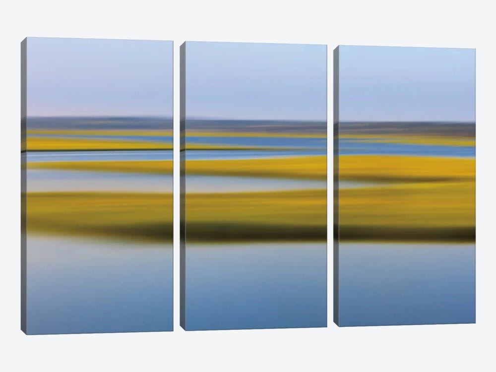 Evening Marsh by Katherine Gendreau 3-piece Canvas Artwork