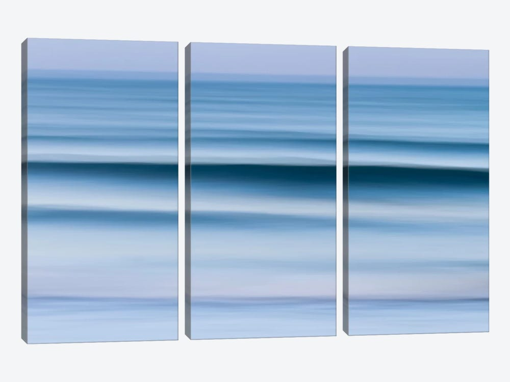 Evening Waves by Katherine Gendreau 3-piece Canvas Print