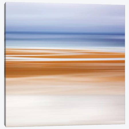 Foggy Evening at Low Tide Canvas Print #WAC2503} by Katherine Gendreau Canvas Artwork