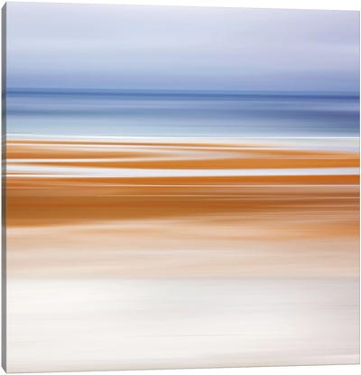 Foggy Evening at Low Tide Canvas Print #WAC2503