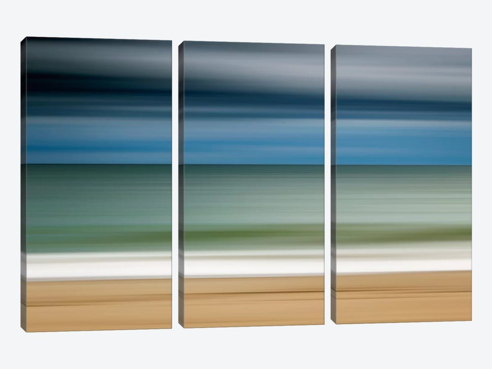 Ocean Storm by Katherine Gendreau 3-piece Canvas Print