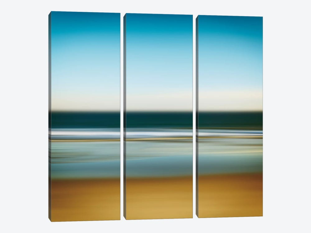 Sea Stripes I by Katherine Gendreau 3-piece Canvas Wall Art