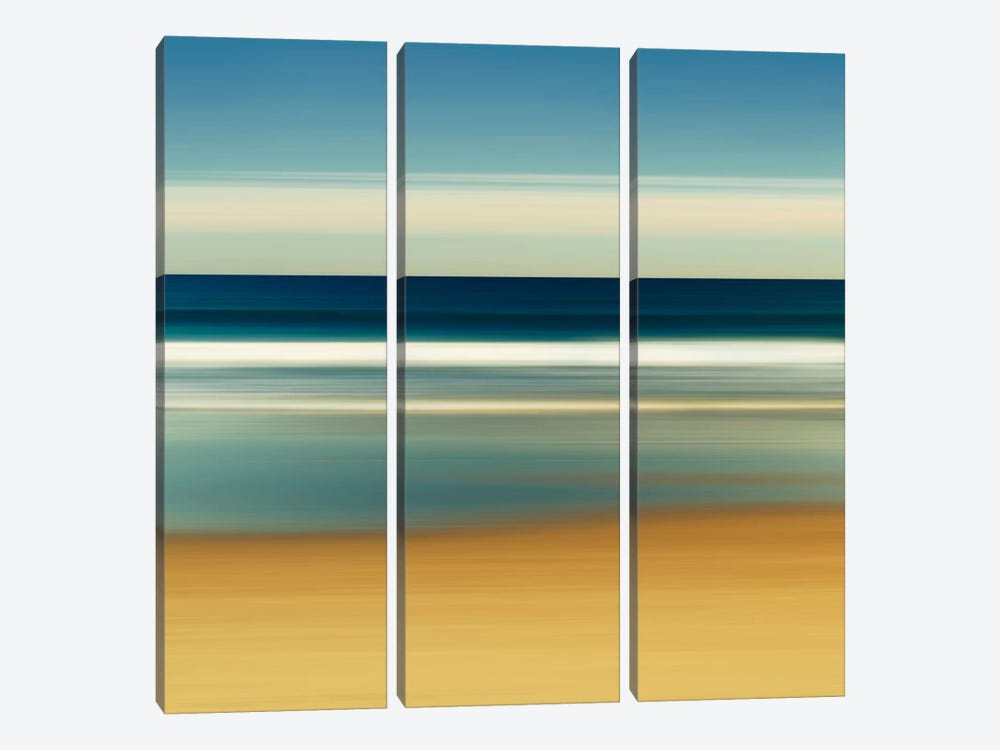 Sea Stripes II by Katherine Gendreau 3-piece Canvas Print