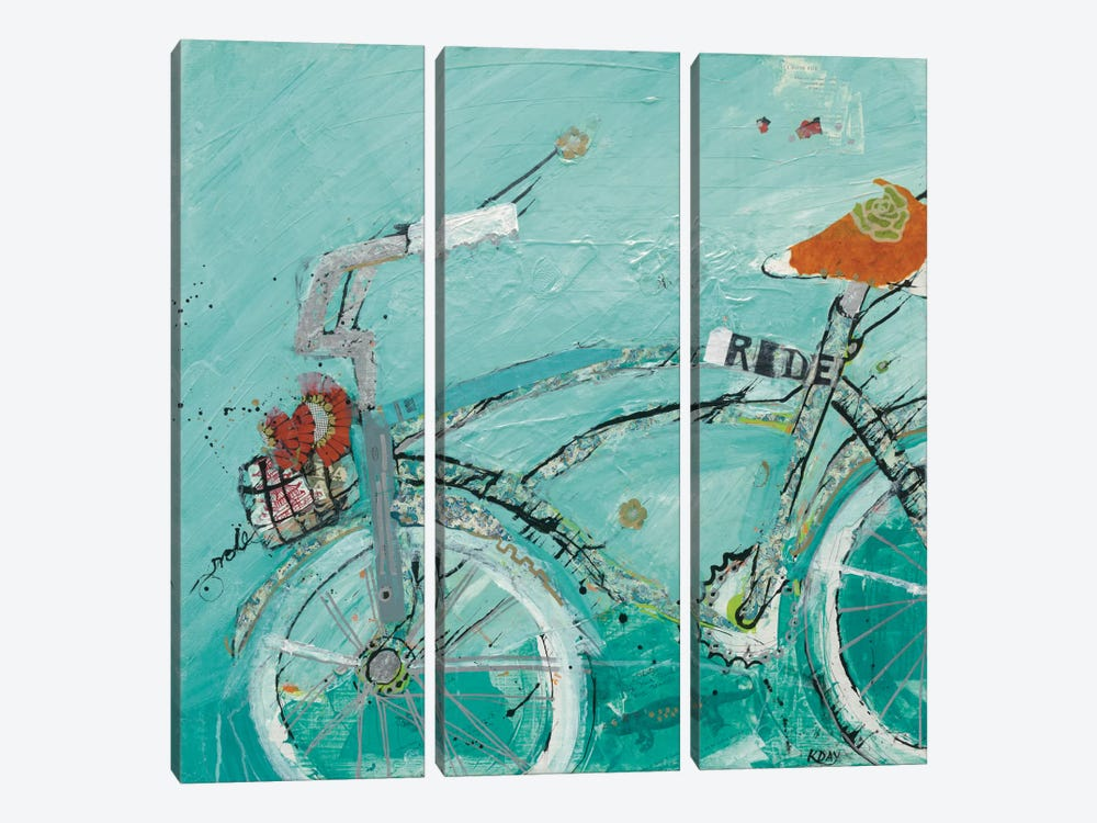 Ride by Kellie Day 3-piece Canvas Art Print