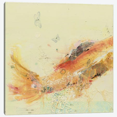 Fish in the Sea I Canvas Print #WAC2521} by Kellie Day Canvas Wall Art