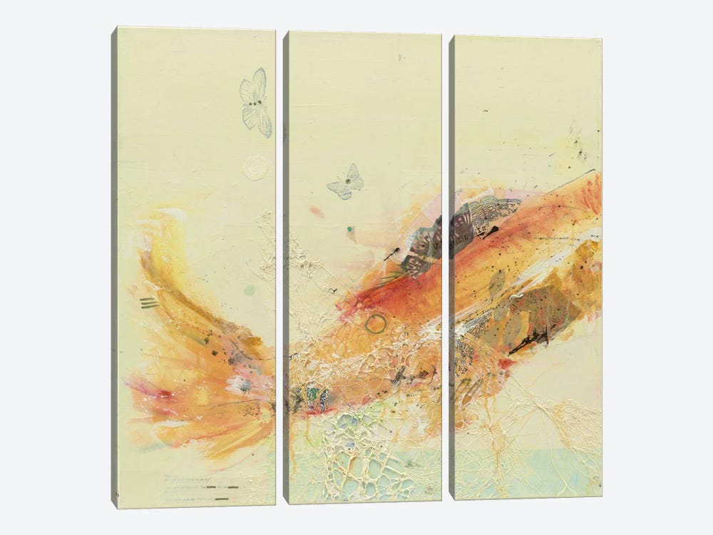 Fish in the Sea I by Kellie Day 3-piece Canvas Print