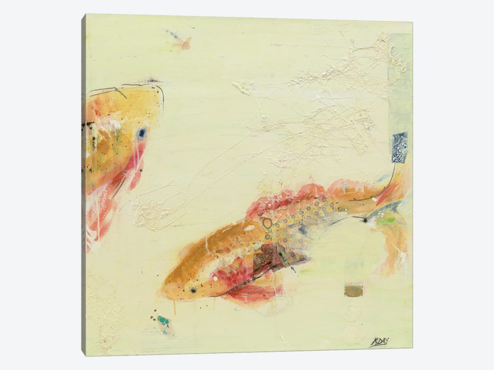 Fish in the Sea II by Kellie Day 1-piece Canvas Art