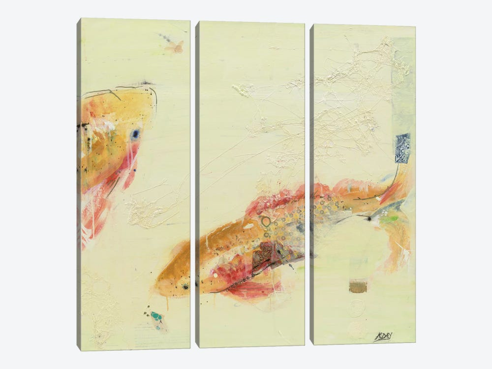 Fish in the Sea II by Kellie Day 3-piece Canvas Artwork