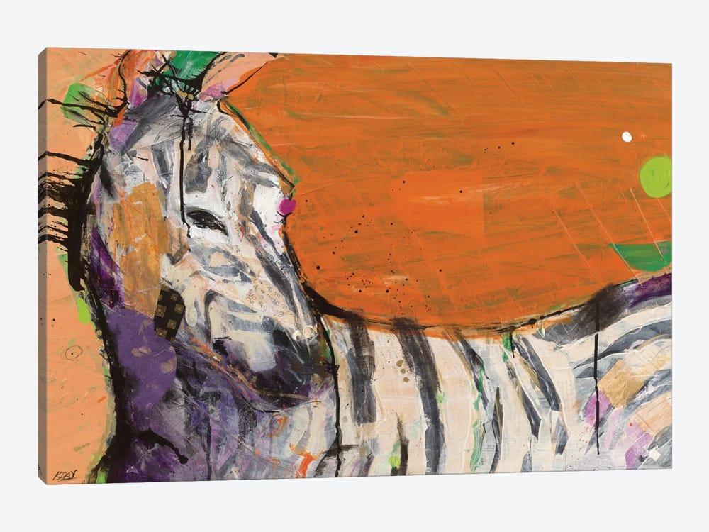 Zebra by Kellie Day 1-piece Canvas Art Print