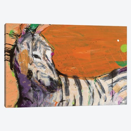 Zebra Canvas Print #WAC2527} by Kellie Day Canvas Art Print