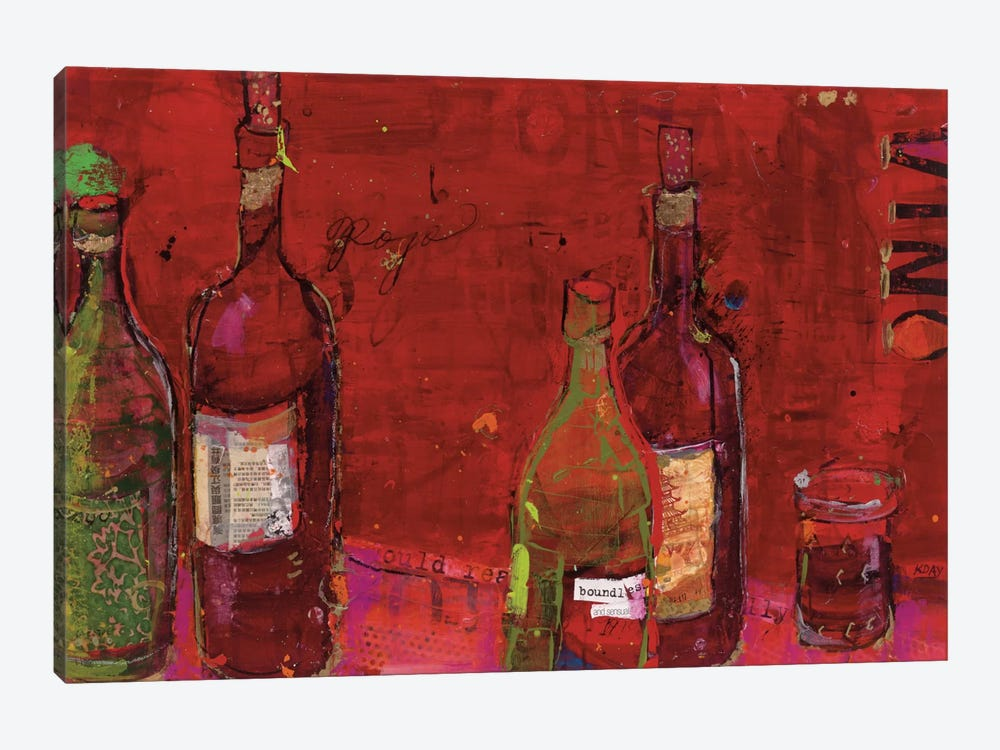 Vino Rojo by Kellie Day 1-piece Canvas Art Print
