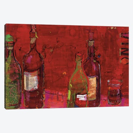 Vino Rojo Canvas Print #WAC2529} by Kellie Day Canvas Artwork