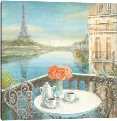 Morning on the Seine Canvas Art Print