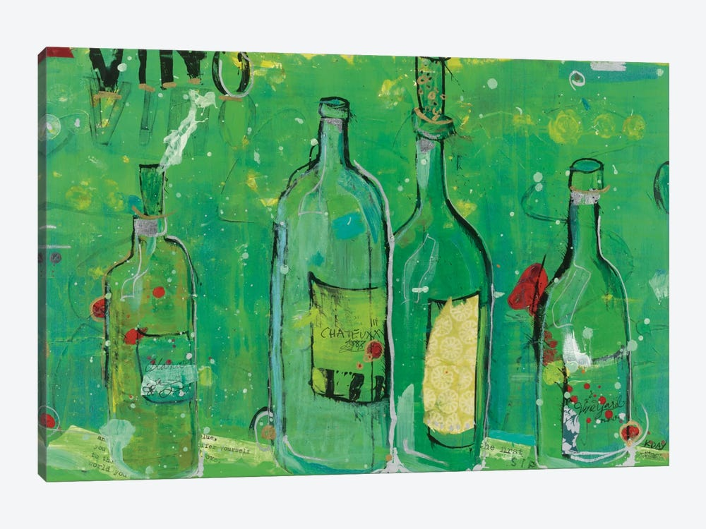Vino Blanco by Kellie Day 1-piece Art Print