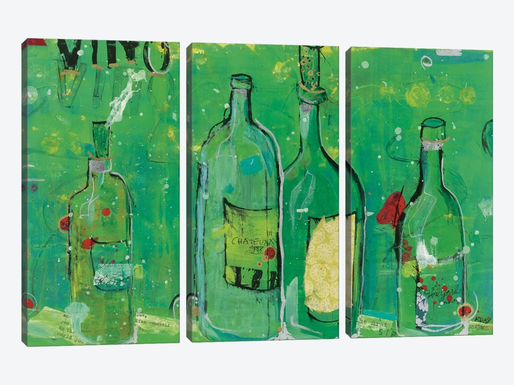 Vino Blanco by Kellie Day 3-piece Art Print