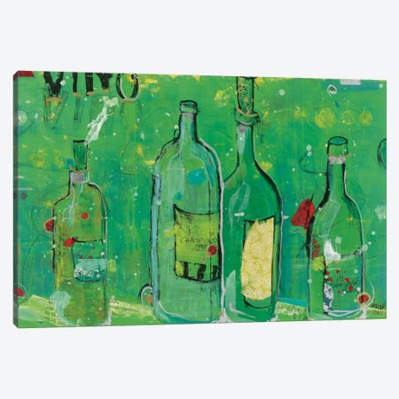 Vino Blanco Canvas Print #WAC2530} by Kellie Day Art Print