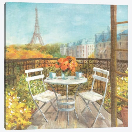 September in Paris Crop Canvas Print #WAC253} by Danhui Nai Canvas Print