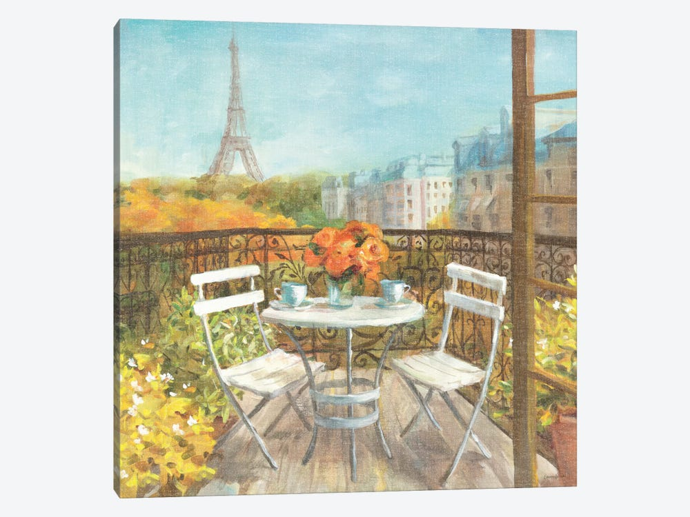 September in Paris Crop by Danhui Nai 1-piece Canvas Print