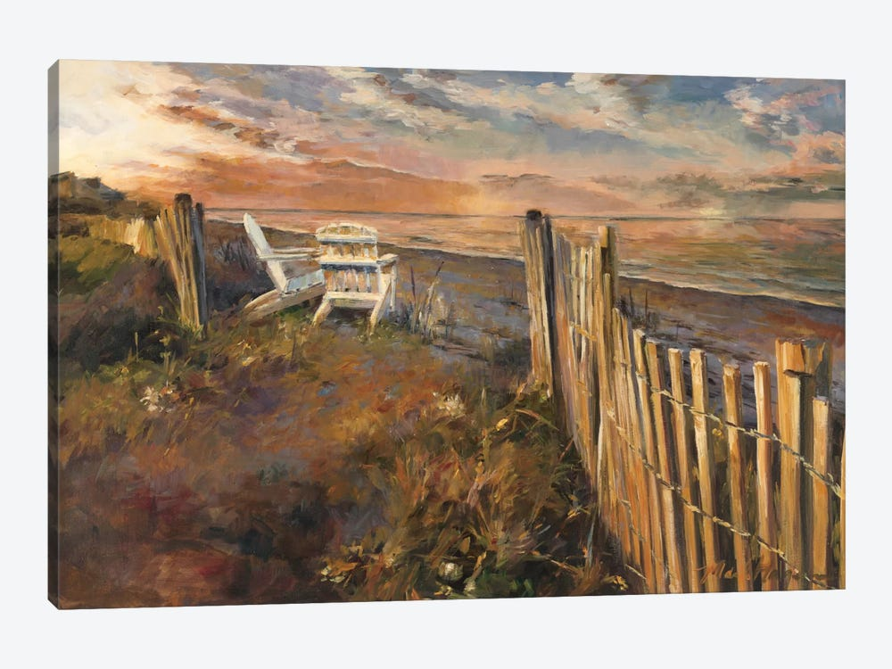 The Beach at Sunset 1-piece Canvas Print