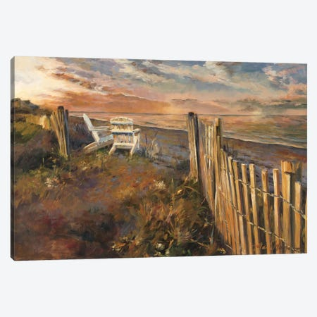 The Beach at Sunset 3-Piece Canvas #WAC2565} by Marilyn Hageman Canvas Print