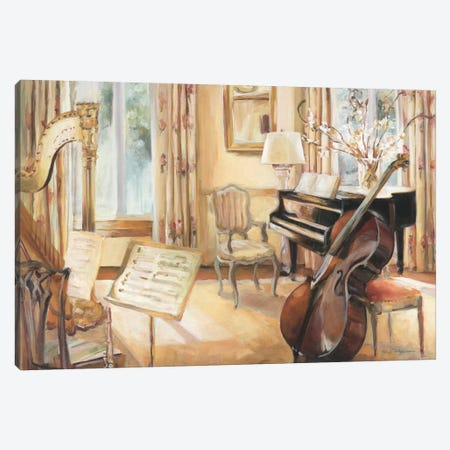 My Son's Cello Canvas Print #WAC2583} by Marilyn Hageman Canvas Artwork