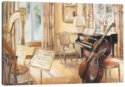 My Son's Cello by Marilyn Hageman Canvas Art Print