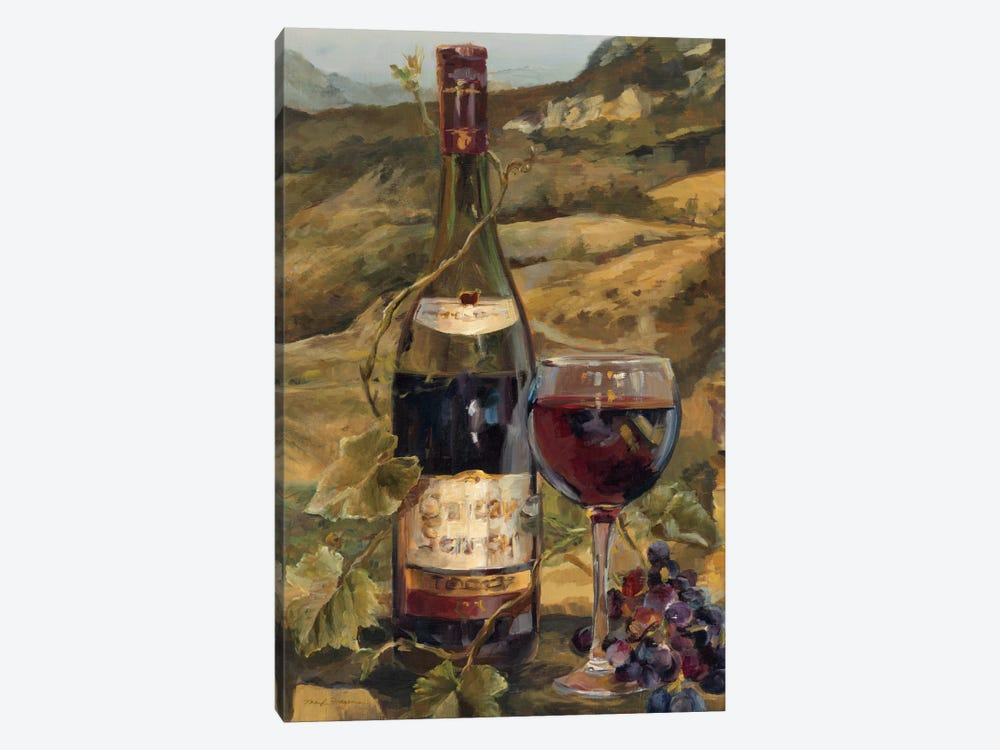 Tuscan Valley Red by Marilyn Hageman 1-piece Canvas Print