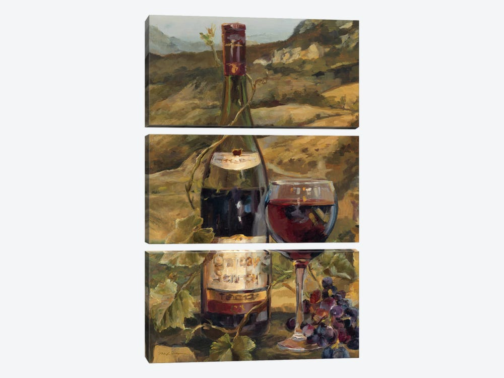 Tuscan Valley Red by Marilyn Hageman 3-piece Art Print