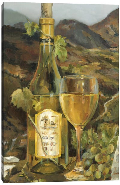 Tuscan Valley White Canvas Art Print