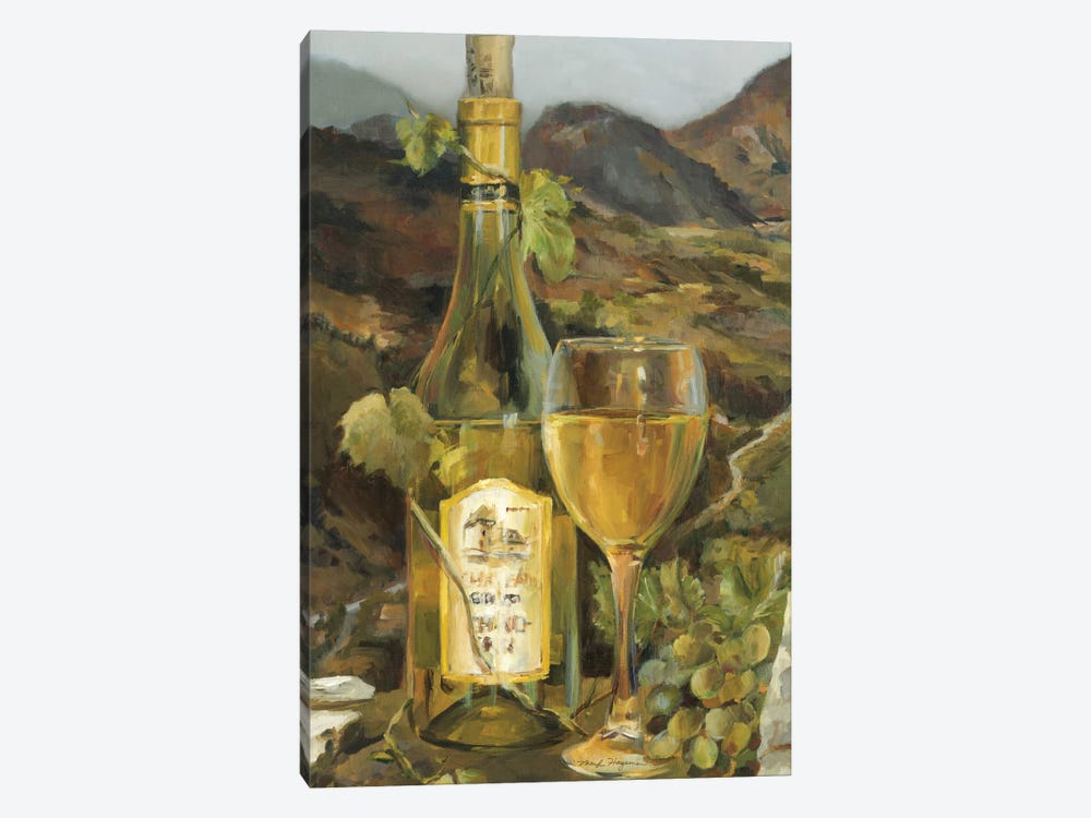 Tuscan Valley White 1-piece Canvas Art